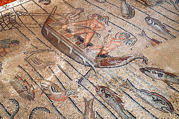 Patriarchal Basilica of Aquileia. Mosaic floor with Christian symbolism, 4th century. Italy.