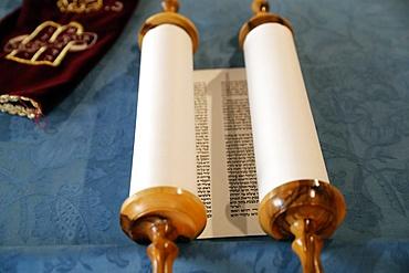 Torah scroll used in the ritual of Torah reading during Jewish prayers, Italy, Europe