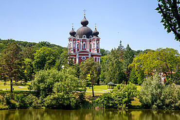 Curchi Monastery church and garden, Curchi, Moldova, Europe
