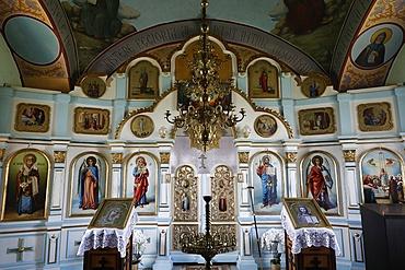 Interior, Tsipova Monastery church, Rezina, Moldova, Europe
