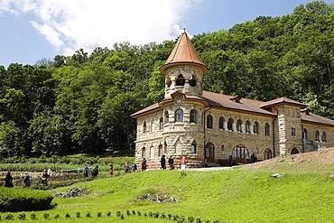 Visitors, Rudi Orthodox Monastery, Soroca, Moldova, Europe
