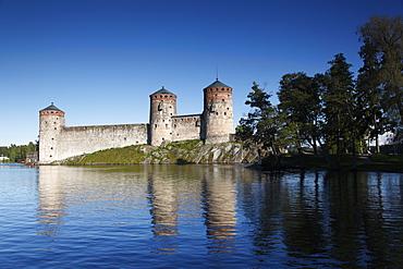 Olavinlinna medieval castle (St. Olaf's Castle), Savonlinna, Saimaa Lake District, Savonia, Finland, Scandinavia, Europe