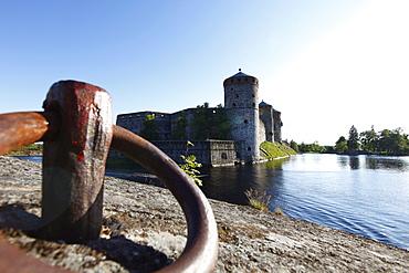 Mooring ring, Olavinlinna Medieval Castle, (St. Olaf's Castle), Savonlinna, Saimaa Lake District, Savonia, Finland, Scandinavia, Europe