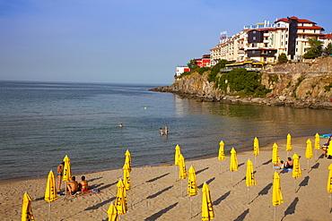 Front Beach on the Black Sea, Sozopol, Bulgaria, Europe