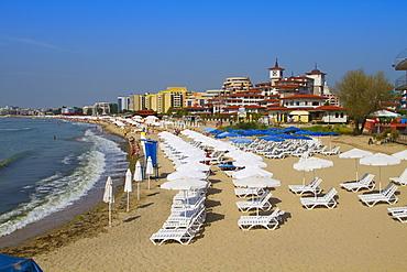 Main Beach, Sveti Vlas, Black Sea coast, Bulgaria, Europe