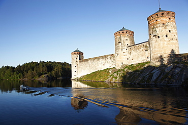 Olavinlinna Medieval Castle (St. Olaf's Castle), Savonlinna, Saimaa Lake, Savonia, Finland, Scandinavia, Europe