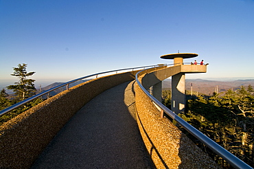 Viewpoint on top of the Great Smoky Mountains National Park, UNESCO World Heritage Site, Tennessee, United States of America, North America