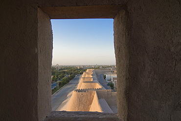 The fortified walls of Khiva, UNESCO World Heritage Site, Uzbekistan, Central Asia