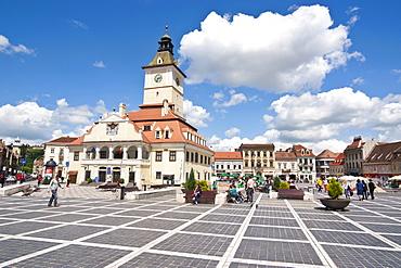 Brasov Council Square, Brasov, Transylvania, Romania, Europe