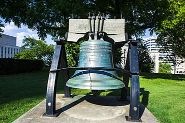 Old bell at the State Capitol in Nashville, Tennessee, United States of America, North America