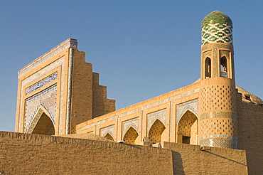 Medressa at Ichon Qala (Itchan Kala) Fortress, UNESCO World Heritage Site, Khiva, Uzbekistan, Central Asia