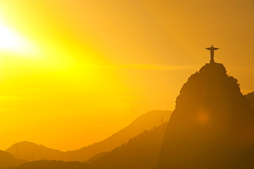 View from the Sugarloaf of Christ the Redeemer statue on Corcovado, Rio de Janeiro, Brazil, South America