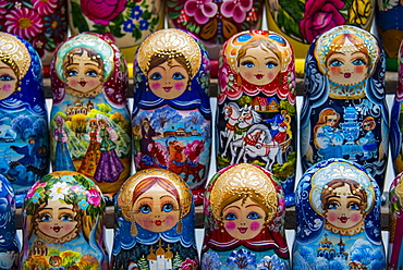 Russian dolls for sale as souvenirs in Kiev (Kyiv), Ukraine, Europe