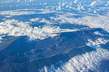 Aerial of Haleakala National Park, Maui, Hawaii, United States of America, Pacific