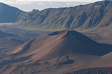 Volcanic crater on top of the Haleakala National Park, Maui, Hawaii, United States of America, Pacific