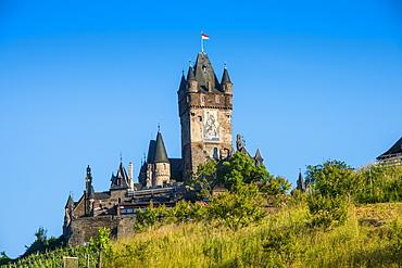 Cochem Castle, Cochem, Moselle Valley, Rhineland-Palatinate, Germany, Europe