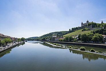 Fortress Marienberg over the main, Wuerzburg, Franconia, Bavaria, Germany