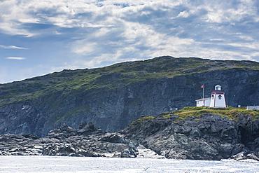 Fox Head lighthouse in St. Anthony, Newfoundland, Canada, North America