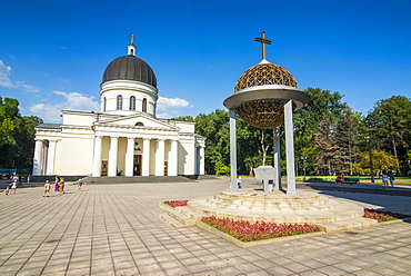 Nativity cathedral in the center of Chisinau capital of Moldova, Eastern Europe