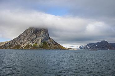 Huge mountain rock on Alkhornet, Svalbard, Arctic