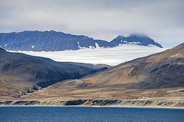 Huge glacier on Alkhornet, Svalbard, Arctic