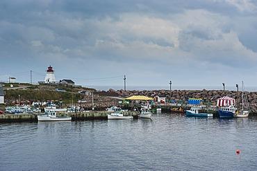 The small village of Neil's Harbour, Cape Breton Highlands National Park, Cape Breton Island, Nova Scotia, Canada, North America