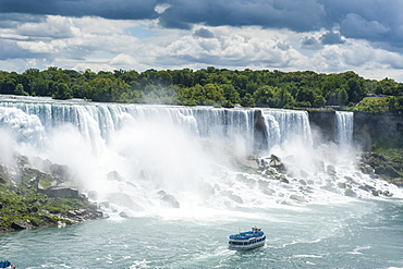 View over the American Falls part of the Niagara Falls, Ontario, Canada, North America
