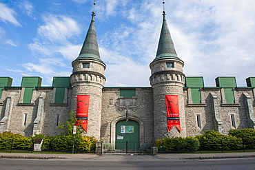 The towers of the Quebec City Armoury in Quebec City, Quebec, Canada, North America