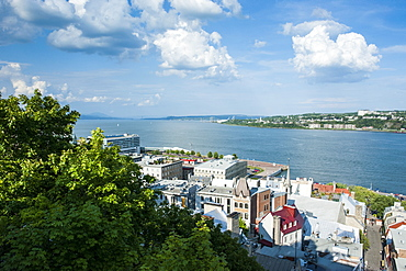 View over the St. Lawrence River, Quebec City, Quebec, Canada, North America