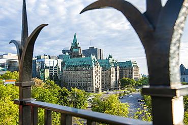 Confederation Building in the center of Ottawa, Ontario, Canada, North America