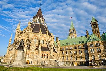Centre Block on Parliament Hill, Ottawa, Ontario, Canada, North America