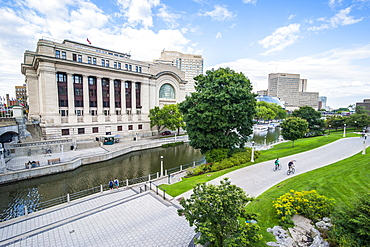 Government Conference Center on the Rideau Canal, Ottawa, Ontario, Canada, North America
