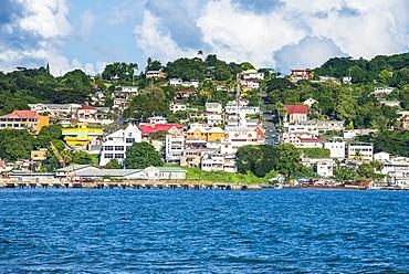 The town of Scarborough, Tobago, Trinidad and Tobago, West Indies, Caribbean, Central America