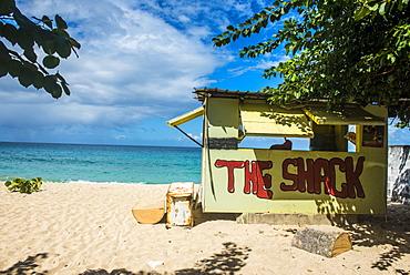 Little beach bar on Magazine beach, Grenada, Windward Islands, West Indies, Caribbean, Central America