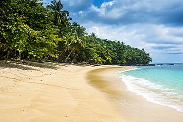 Banana beach, UNESCO Biosphere Reserve, Principe, Sao Tome and Principe, Atlantic Ocean, Africa
