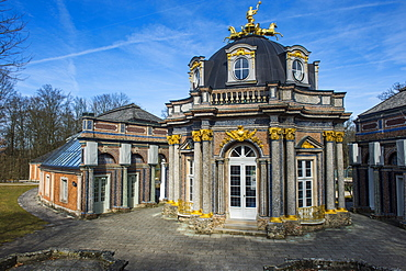 Orangerie with sun temple in the historical park Eremitage, Bayreuth, Upper Franconia, Bavaria, Germany, Europe