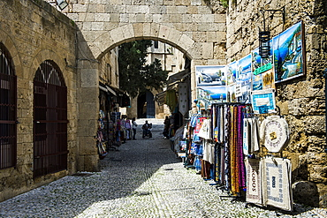 The Medieval Old Town. UNESCO World Heritage Site, City of Rhodes, Rhodes, Dodecanese Islands, Greek Islands, Greece, Europe