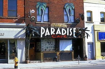 Paradise Cafe, Queen Street East, Toronto, Ontario, Canada, North America