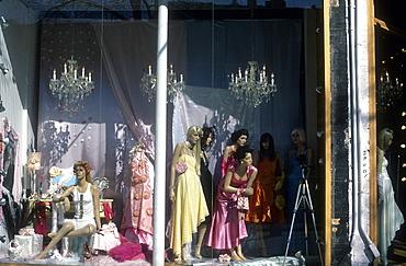 Mannequins in window display, Queen Street West, Toronto, Ontario, Canada, North America