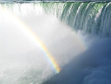 Canadian Falls with a rainbow, Niagara Falls, Ontario, Canada, North America