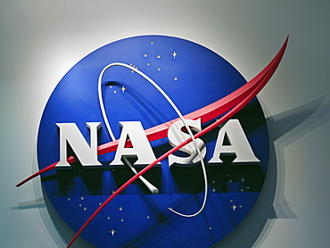 NASA logo, Lyndon B. Johnson Space Center, Houston, Texas, United States of America, North America