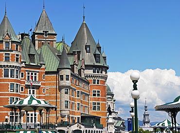 Chateau Frontenac hotel, Quebec City, Quebec, Canada, North America
