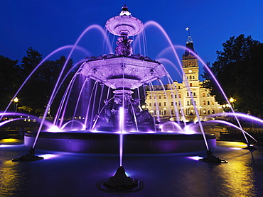 Fontaine de Tourny, designed by sculptor Mathurin Moreau, Legislative Building, Quebec City, Quebec, Canada, North America