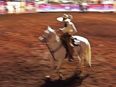 Mexican charro (cowboy) on horse, Guadalajara, Jalisco, Mexico, North America