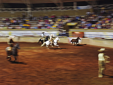 Mexican charro participating in a charreadas, a type of rodeo, Guadalajara, Jalisco, Mexico, North America