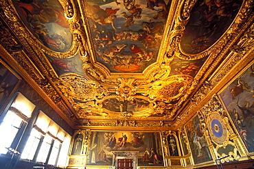 Sala della Bussola (Compass Room), Doge's Palace, Venice, UNESCO World Heritage Site, Veneto, Italy, Europe