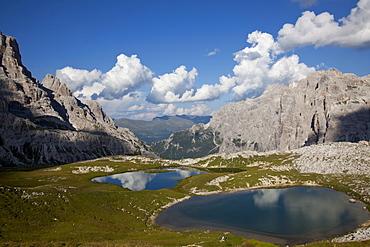 Alpine ponds, Dolomites, eastern Alps, Belluno province, Italy, Europe