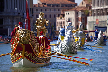 Historical water pageant during the Regata Storica 2009, Venice, Veneto, Italy, Europe