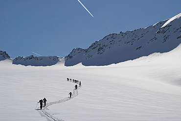 Ski touring in the Alps, Punta Finale, Val Senales, South Tyrol, Italy, Europe