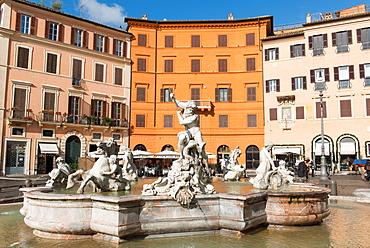 Fountain of Neptune, Piazza Navona, Rome, Lazio, Italy, Europe